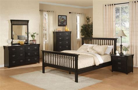 mission style bedroom sets 6 piece mission style bedroom set in distressed black