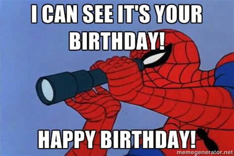 Spiderman Meme Birthday - happy birthday memes with spiderman hd