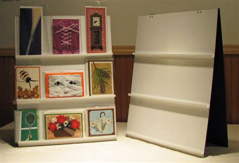 how to display cards tabletop card display cheap and easy made from thin