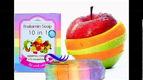 Frutamin 10 In 1 Soap By Wink White Original Thailand Bk1001 soap fruitamin10 in 1 by wink white 100 g