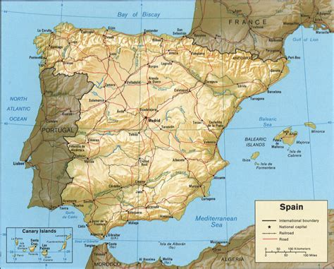 united states map with cities in spanish map of spain 1982