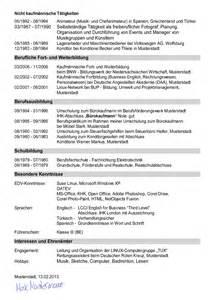 Lebenslauf Zivildienst Berufserfahrung Vorlage Muster Deckblatt Vorlage Muster Tabellarischer