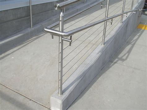 Steel Handrail Systems Stainless Steel Cable Railing Systems Modern Exterior