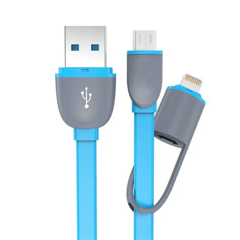 Kabel Lightning Port And Micro Usb Untu Android Ios Murah kabel usb 2 in 1 lightning micro usb untuk android ios