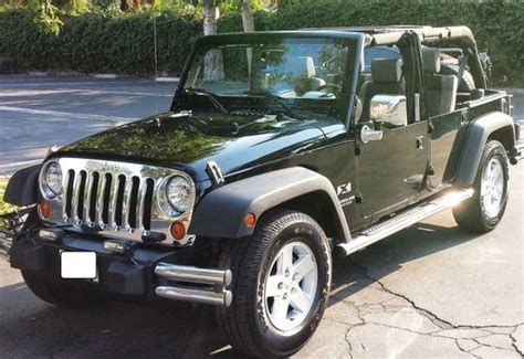 Used 4 Door Jeep Wrangler Sell Used Jeep Wrangler Unlimited X 4 Door 3 8l Two