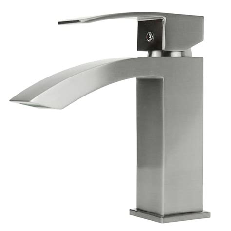 square bathroom faucets square single hole brushed nickel bathroom faucet