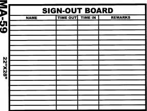 out of the office sign template best photos of sign in sign out sheet sign out sheet
