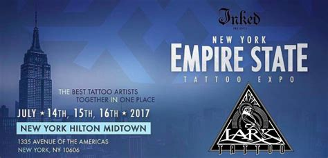 tattoo convention 2017 long island lark tattoo will be at the 2017 ny empire state tattoo