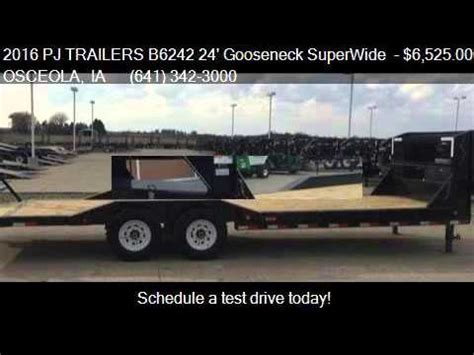 Sale Now On Superwide 2016 pj trailers b6242 24 gooseneck superwide for sale in