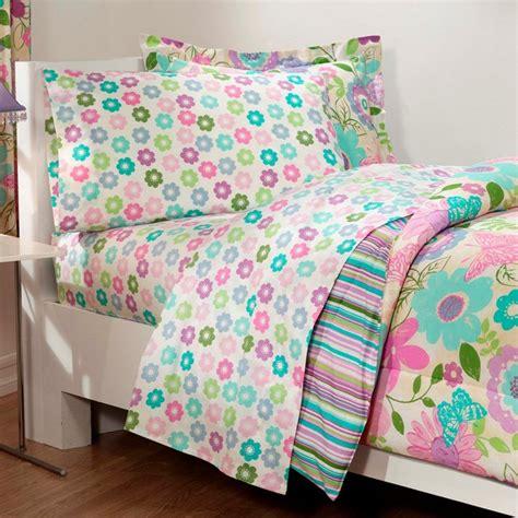 butterfly twin comforter set daisy flower butterfly pink aqua bedding comforter sheet