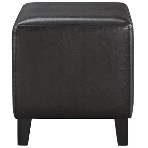leather and wood ottoman lodge modern faux leather upholstered ottoman with wood