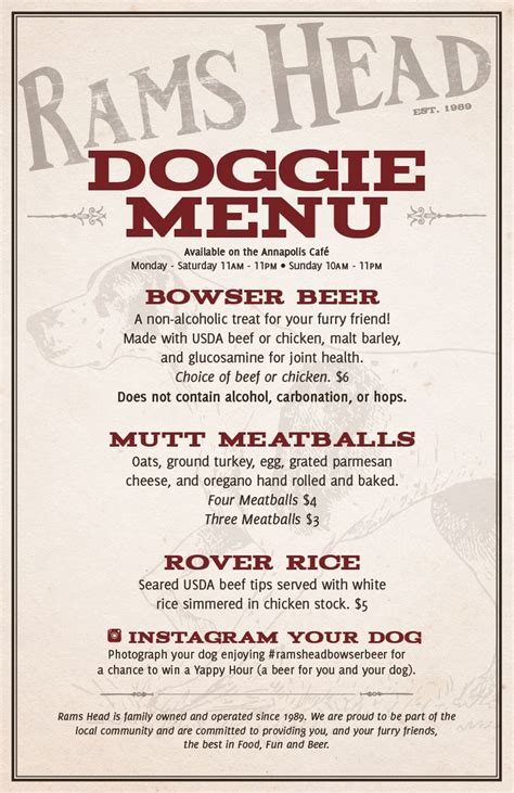 rams savage maryland doggie menu available at rams tavern annapolis and