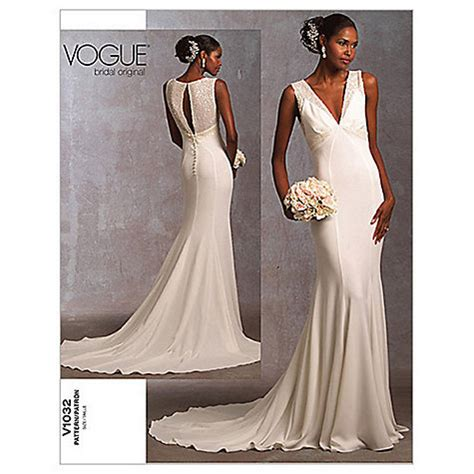 Buy Vogue Bridal Women's Gown Sewing Pattern, 1032   John
