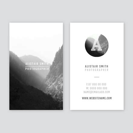 Card Templates For Photographers Whcc by Photographer Business Card
