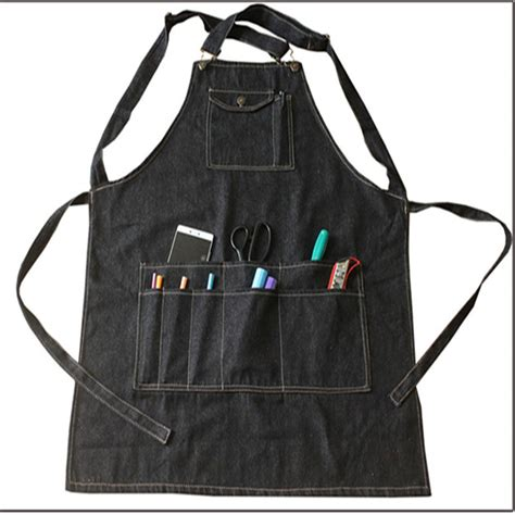 Apron Menyusui Celemek Menyusui 1 new fashion black cotton denim apron cooking work aprons with pockets for