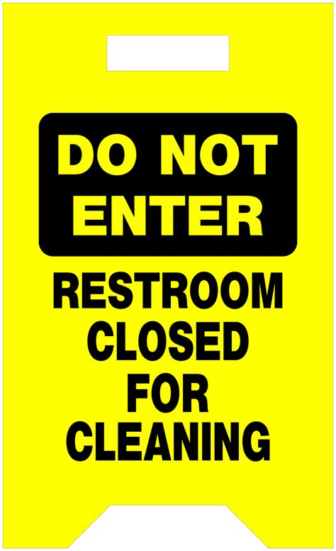 bathroom closed sign item 840233 do not enter rstrm closed cleaning on the