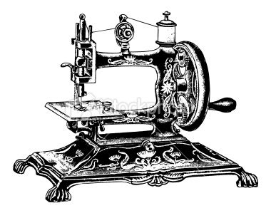 Mesin Bordir Quattro 6000d 9359251 vintage clip and illustrations antique sewing