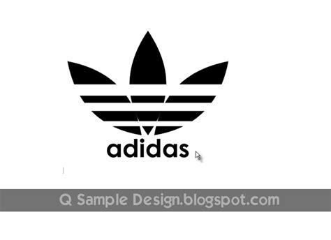 membuat logo huruf membuat logo adidas dengan coreldraw album kolase
