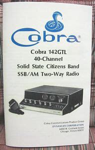 Cobra 142 Gtl Am Ssb Cb Radio Owners Manual Schematics