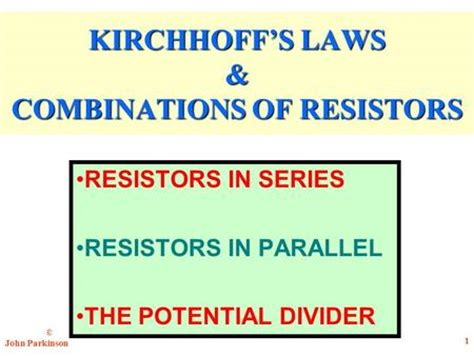 resistors kirchhoff s exle 1 part 1 1 chapter 26 part 1 exles 2 problem if a ohmmeter is placed between points a and b in the