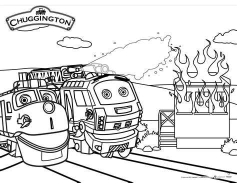 chuggington coloring train pages chuggington fire patrol rescue day the knit wit by shair