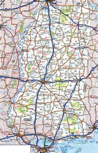 highway map of state large detailed roads and highways map of mississippi state