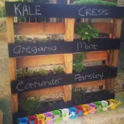 How To Make A Vertical Pallet Herb Garden Diy Pallet Vertical Herb Garden Hanging Planter 99 Pallets