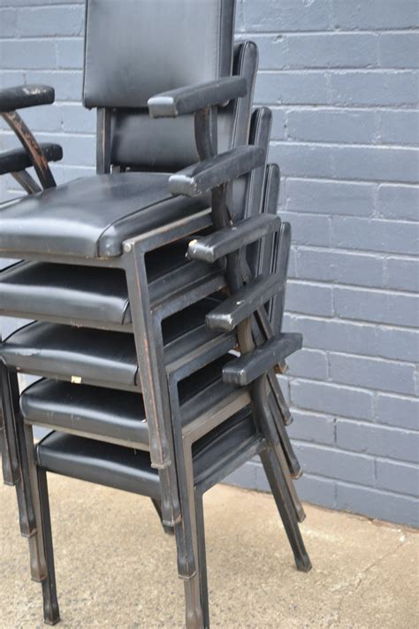 Kitchen Chairs For Heavy by Vintage Mid Century 5 X Black Dining Kitchen Chairs