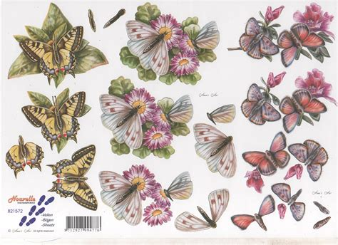 Le Suh Decoupage - le suh 3d decoupage assorted butterflies virgo