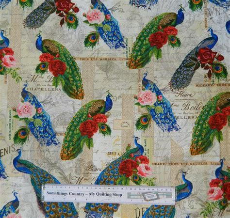 Patchwork Quilting Fabric - patchwork quilting fabric peacock parade material sewing