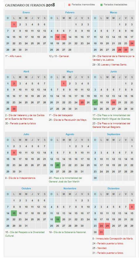 Calend Feriados 2018 Feriados 2018 As 237 Qued 243 El Calendario 10 11 2017 La