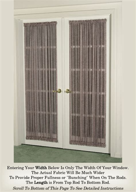 french door curtain company french door curtain multi color sheers door curtains