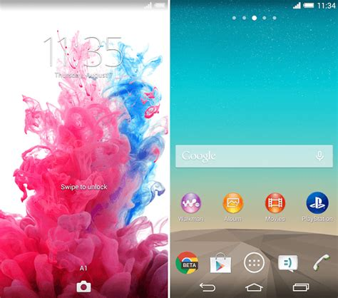 lg lockscreen apk install xperia lg g3 theme on android 4 3 device