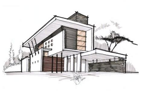 home design drawing contemporary residence architectural drawing architecture building sketch architecture