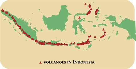 Indonesia On map of volcanoes in indonesia