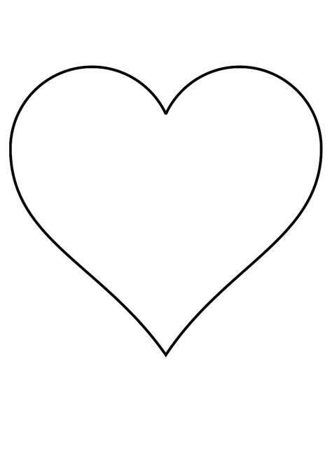 stencils heart clipart best