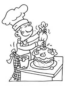 Theme Baker Coloring Pages  Juf Milou sketch template
