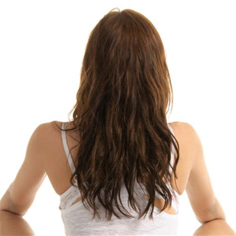 straight hair at front and curls at back u shaped v shaped straight across back haircuts for