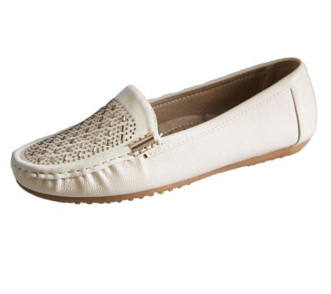 casual comfort womens loafers flat casual comfort ladies diamante summer