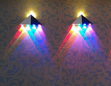 decorative wall lights for homes innori 5w led wall sconce lights aisle light bedroom hote triangle shape decorative lights multi