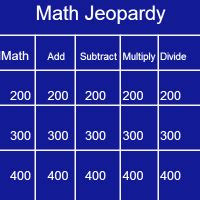 Math Jeopardy Review 8th Grade Science Jeopardy Games Free Math Jeopardy