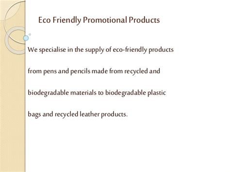 Eco Friendly Giveaways - eco friendly promotional products