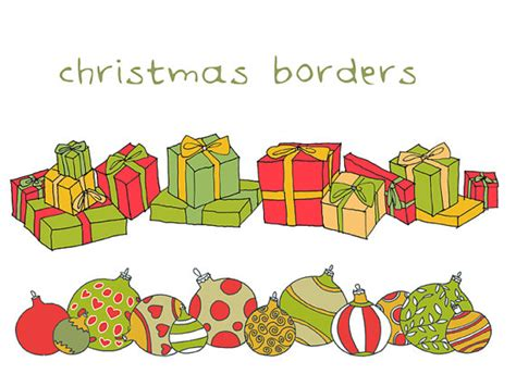 Clipart Border Of Gifts And by Present Border Clipart