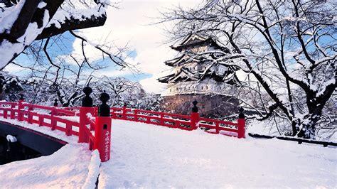 壁纸 日本青森县弘前市 冬天的雪 桥梁 城堡 冰树 1920x1200 hd 高清壁纸 图片 照片