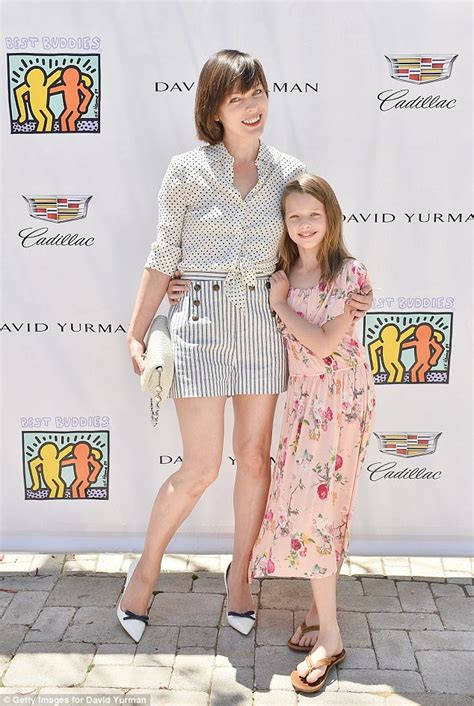 milla jovovich daughter milla jovovich attends best buddies mother s day brunch