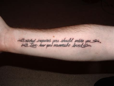 cool simple tattoo quotes simple two lined quote tattoo on arm tattooimages biz