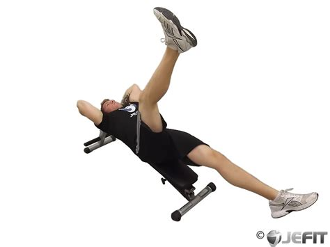decline bench ab exercises decline bench leg raise with hip thrust exercise