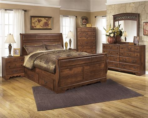 timberline bedroom set buy timberline sleigh bedroom set by signature design from