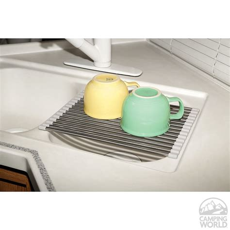 sink accessories dish drainer roll up dish drainer four corners 7007 3 sink