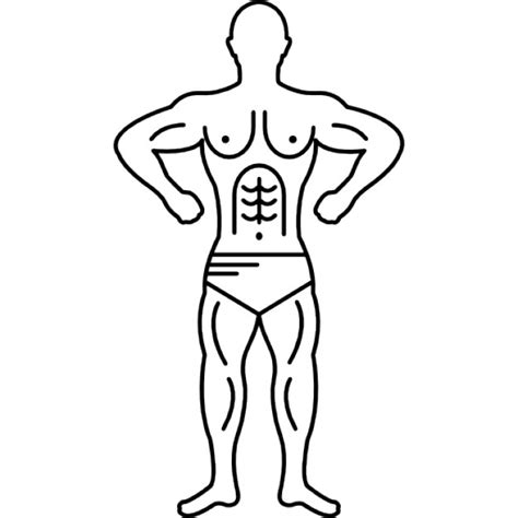 Outline Of A Bodybuilder by Muscular Outline Vectors Photos And Psd Files Free